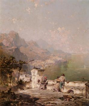 Franz Richard Unterberger : Amalfi The Gulf Of Salerno