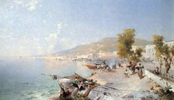 Franz Richard Unterberger : Vietri Sul Mare Looking Towards Salerno