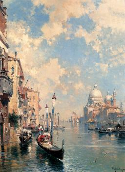 Franz Richard Unterberger : The Grand Canal Venice