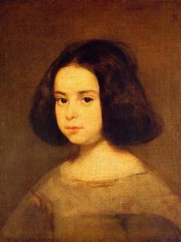 Diego Rodriguez De Silva Velazquez : Portrait of a Little Girl