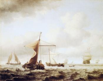 Willem Van De Velde The Younger : A Brisk Breeze