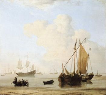 Willem Van De Velde The Younger : A Calm