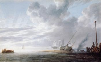 Willem Van De Velde The Younger : Seascape