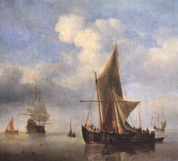 Willem Van De Velde The Younger : Calm Sea