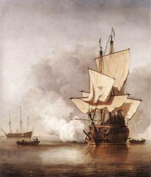 Willem Van De Velde The Younger : The Cannon Shot