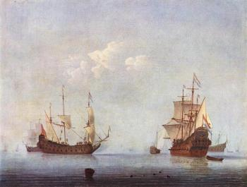 Willem Van De Velde The Younger : Marine Landscape