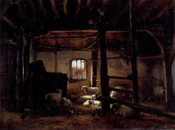 Eugene Joseph Verboeckhoven : In The Stable