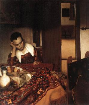 Jan Vermeer : A Woman Asleep at Table