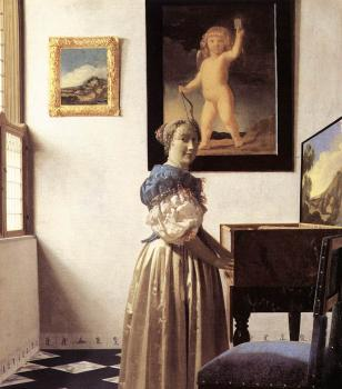 Jan Vermeer : Lady Standing at a Virginal
