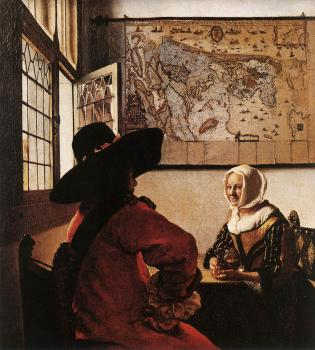 Jan Vermeer : Officer with a Laughing Girl
