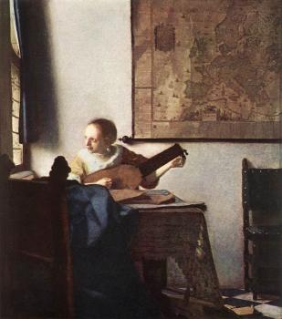 Jan Vermeer : Woman with a Lute near a Window
