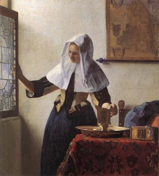 Jan Vermeer : Young Woman with a Water Jug