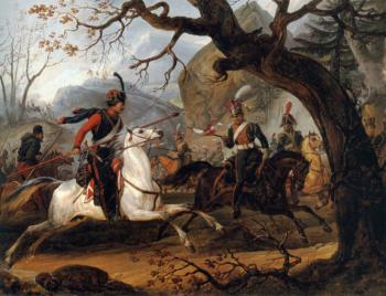 Horace Vernet : Napoleonic battle in the Alps