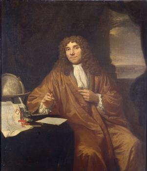 Horace Vernet : Portrait of Anthonie van Leeuwenhoek