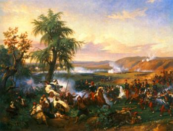 Horace Vernet : The Battle of Habra, Algeria