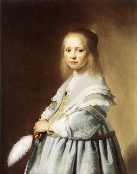 Jan Cornelisz Verspronck : Girl in a Blue Dress