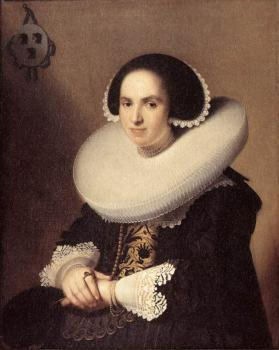 Jan Cornelisz Verspronck : Portrait of Willemina van Braeckel