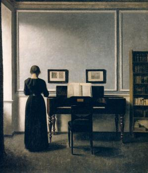 Interior With Piano and Woman in Black, Strandgade 30