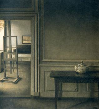 Interior with Easel and Punch Bowl