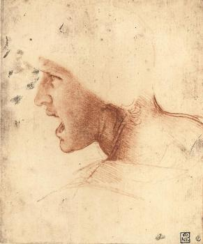 Leonardo Da Vinci : Head of a Warrior
