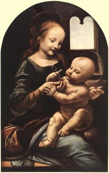 Leonardo Da Vinci : Madonna with Flower