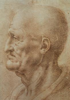 Leonardo Da Vinci : Study of an Old Man's Profile