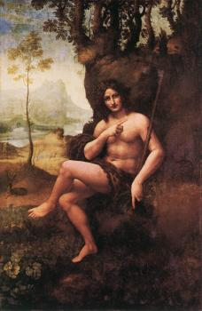 Leonardo Da Vinci : St John in the Wilderness
