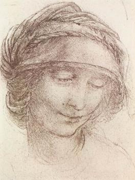 Leonardo Da Vinci : Head of a woman