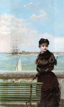 An elegant Woman at St Malo