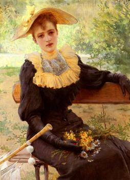 Vittorio Matteo Corcos : In The Garden
