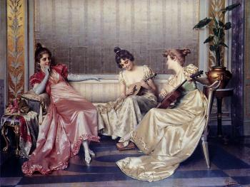 Elegant Figures In An Interior