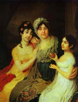 Portrait of Countess A. I. Bezborodko with Her Daughters