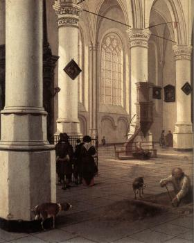 Hendrick Cornelisz Van Vliet : The New Church at Delft