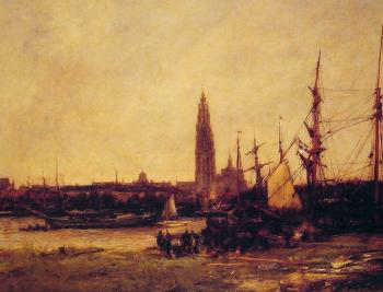 Antoine Vollon : View of Antwerp