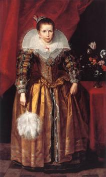 Cornelis De Vos : Portrait of a Girl at the Age of ten