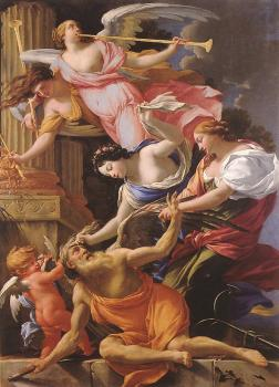 Simon Vouet : Saturn, Conquered by Amor, Venus and Hope