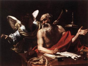 Simon Vouet : St Jerome and the Angel