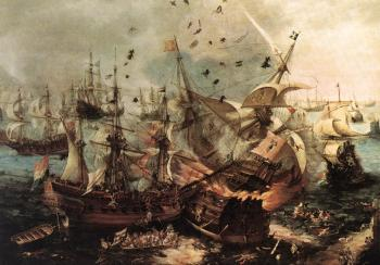 Hendrick Cornelisz Vroom : Battle of Gibraltar