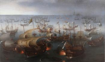 Hendrick Cornelisz Vroom : Day seven of the battle with the Armada