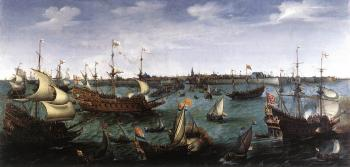 Hendrick Cornelisz Vroom : The Arrival at Vlissingen of the Elector Palatinate Frederic