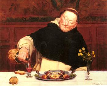 Walter Dendy Sadler : The Monks Repast