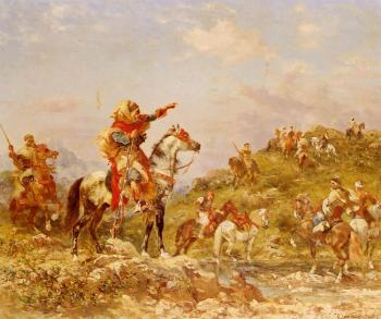 Arab Warriors on Horseback