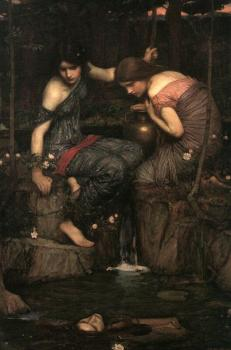 John William Waterhouse : Nymphs finding the Head of Orpheus II