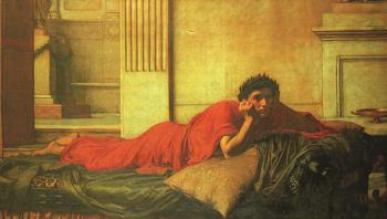John William Waterhouse : The Remorse of Nero after the Murder of his Mother