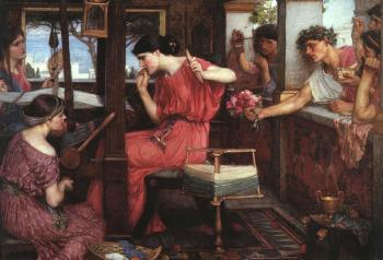 John William Waterhouse : Penelope and the Suitors