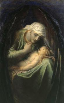 George Frederick Watts : Death Crowning Innocence