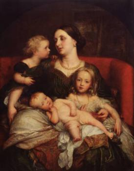 George Frederick Watts : Mrs George Augustus Frederick Cavendish Bentinck and her Children
