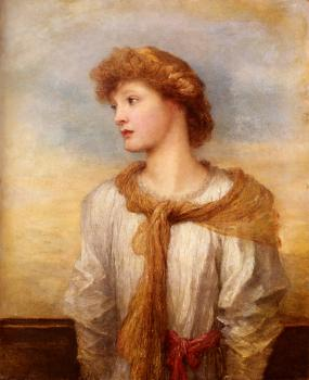 George Frederick Watts : Portrait Of Miss Lilian Macintosh