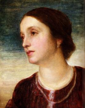 George Frederick Watts : Portrait Of The Countess Somers