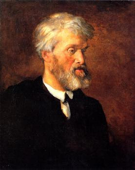 George Frederick Watts : Portrait Of Thomas Carlyle
